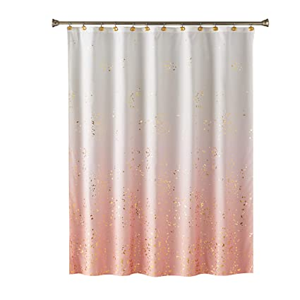 Shower Curtains Pink And Brown.Amazon Com Skl Home By Saturday Knight Ltd Splatter Fabric Shower