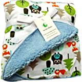 Sherpa Fleece Baby Blanket Unisex 30 x 40 Soft- Perfect For Swaddling and Strolling- Fluffy For Boys and Girls By Genio Baby