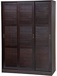 Palace Imports 5676 100% Solid Wood 3 Sliding Door Wardrobe/Armoire/Closet