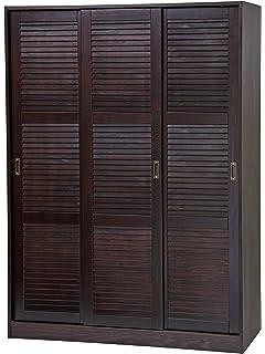 Palace Imports 100% Solid Wood 3 Sliding Door Wardrobe/Armoire/Closet/