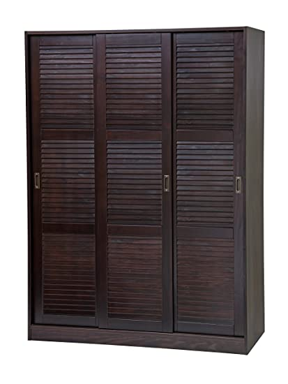 Palace Imports 100% Solid Wood 3 Sliding Door Wardrobe/Armoire/Closet/