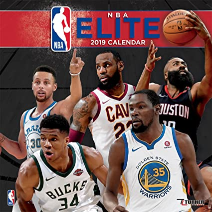 2019 Nba Calendar Amazon.: Turner 1 Sport NBA Elite 2019 Mini Wall Calendar