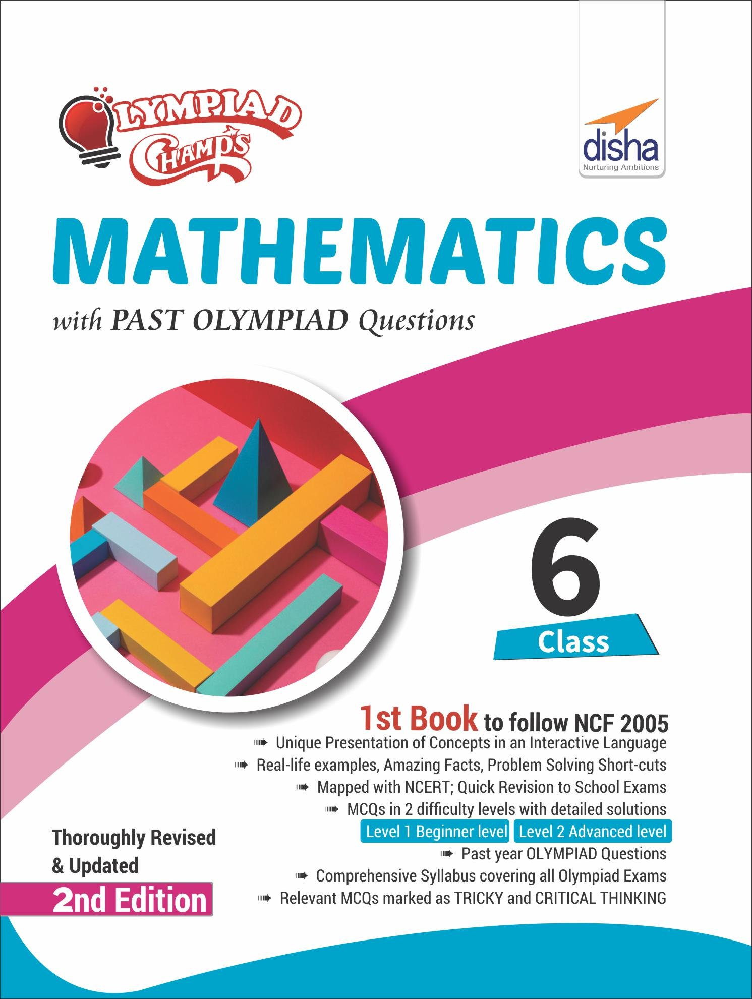 Buy Olympiad Champs Mathematics Class 6 with Past Olympiad