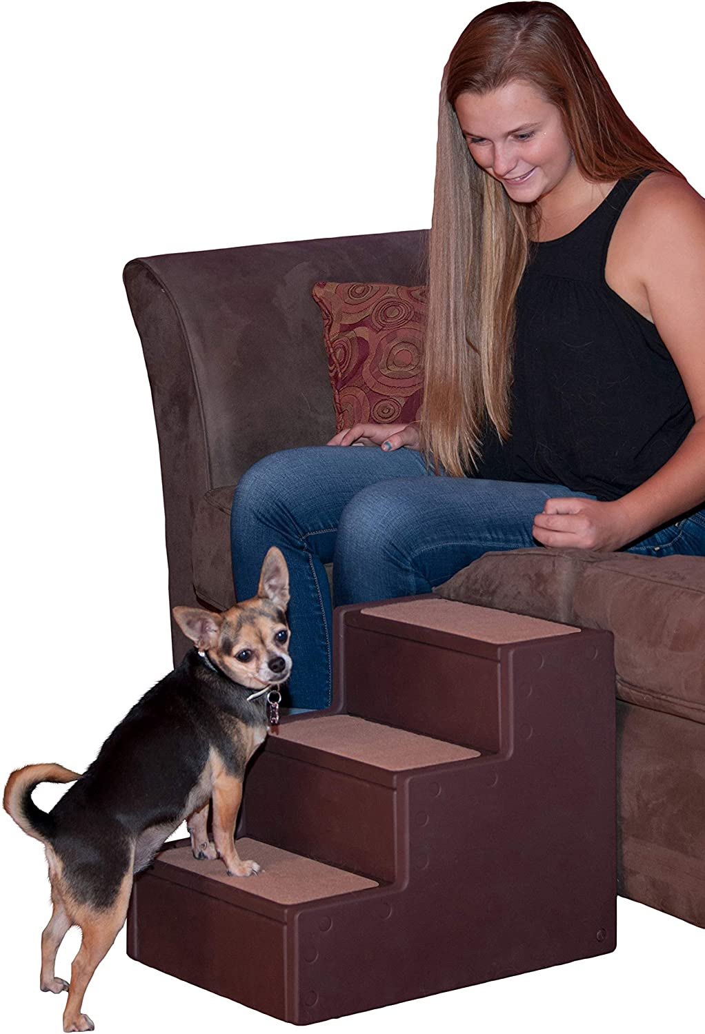 Pet Gear Pet Step with stair landing for small dogs, miniatures, and cats, for pets up to 50 pounds : Pet Supplies