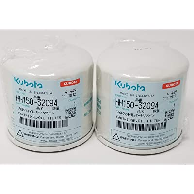 2PK Genuine OEM Kubota Oil Filter HH150-32094: Automotive