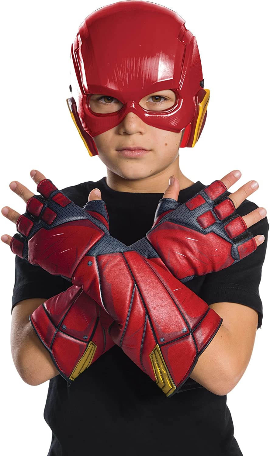 Justice League Movie - Flash Gloves- Child One Size Rubies 34255