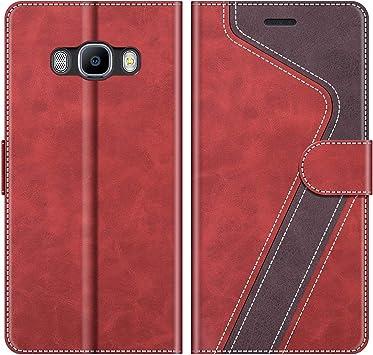 MOBESV Coque pour Samsung Galaxy J7 2016, Housse en Cuir Samsung Galaxy J7 2016, Étui Téléphone Samsung Galaxy J7 2016 Magnétique Etui Housse pour ...