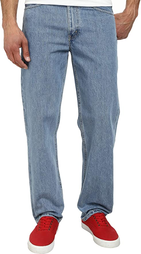 Indirecto Problema todos los días  Levi's Mens 550 Relaxed Fit Light Stonewash 35 32 at Amazon Men's Clothing  store