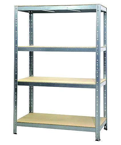 Scaffale Legno Metallo.Scaffale In Legno E Metallo Joker In Kit 160x60x180 Cm 300 Kg A Ripiano