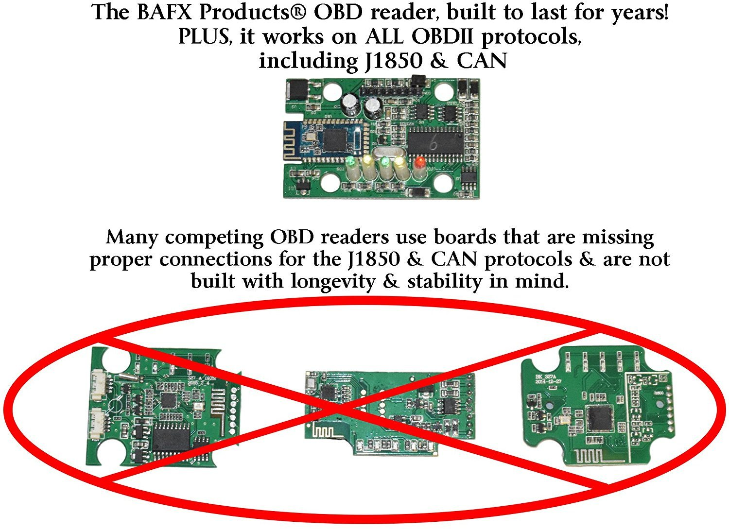 BAFX Products Bluetooth OBD2 / OBDII Diagnostic Car Scanner Reader Tool for Android by BAFX Products (Image #3)
