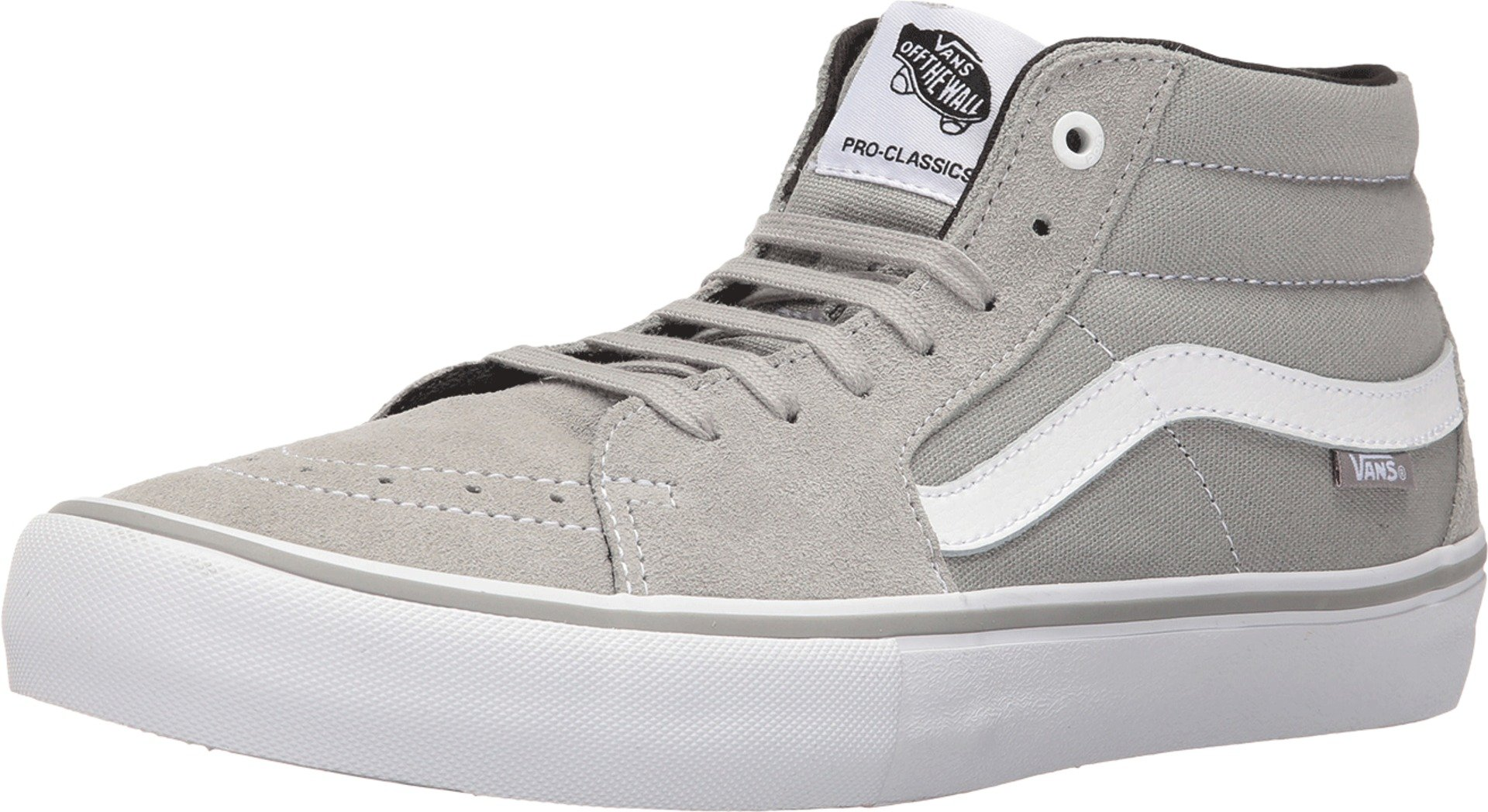 198424c464 Galleon - Vans Sk8 Mid Pro Mens 7   Womens 8.5 Drizzle Grey White  Skateboarding Shoes