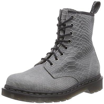 b9ee9b3983b Dr. Martens 1460 Python Suede Grey Chaussures Bateau Femmes