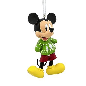 Amazon.com: Hallmark Ornament Disney Mickey Mouse Christmas Sweater ...