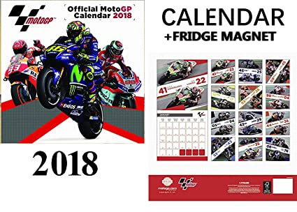 moto gp official calendar 2018 max power sports car fridge magnet