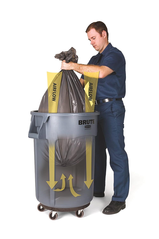 rubbermaid commercial brute heavyduty round container 10gallon blue waste bins amazoncom industrial u0026 scientific