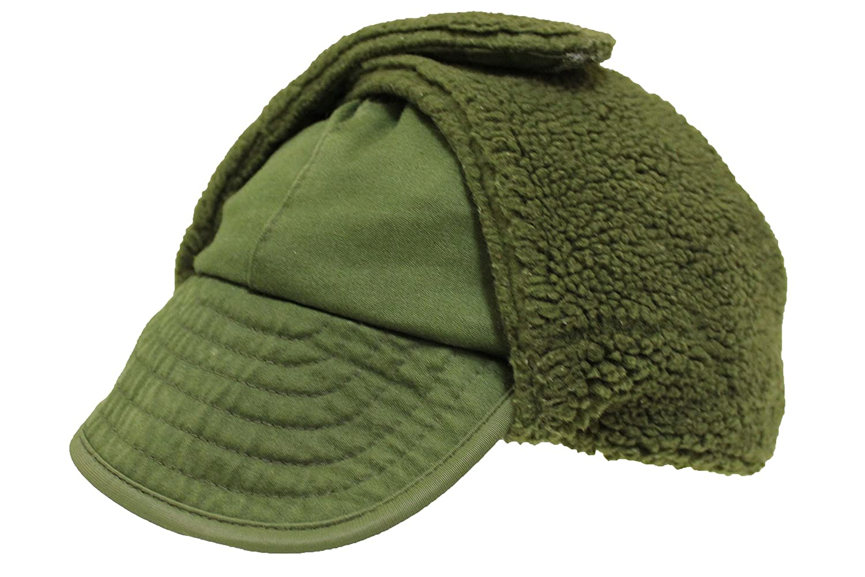 Genuine Danish Army Olive Drab Winter Pile Cap Grade 1