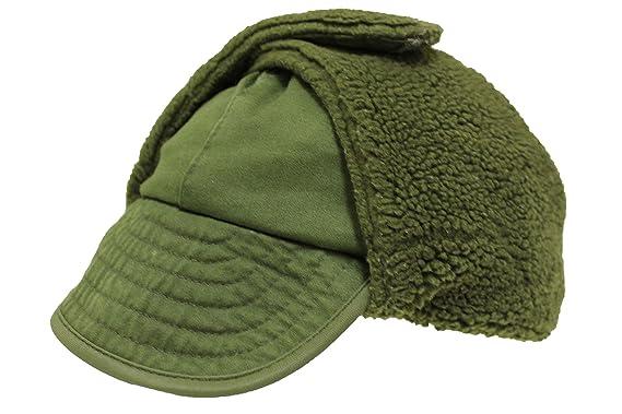 4707ff9bf72 Genuine Danish Army Olive Drab Winter Pile Cap Grade 1 (59)  Amazon.co.uk   Clothing