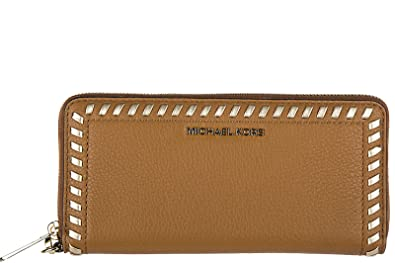 852edd0a08e9 Image Unavailable. Image not available for. Color: MICHAEL Michael Kors  Lauryn Travel Continental Leather Wallet in Acorn
