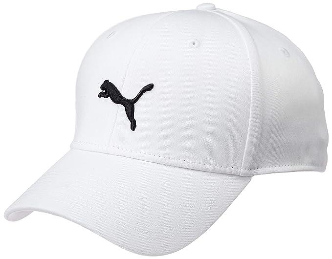 d0874086 Image Unavailable. Image not available for. Colour: Puma Unisex White  Stretchfit BB Cat Cap