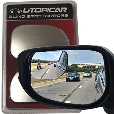 Blind Spot Mirrors. XLarge for SUV, Truck, and Pick-up Engineered by Utopicar for Blind Side. (2 Pack): Automotive