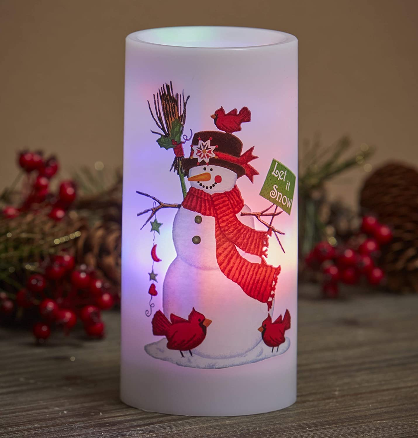 Christmas Flameless Projector Lamp Candle - Home Decor for The Holiday