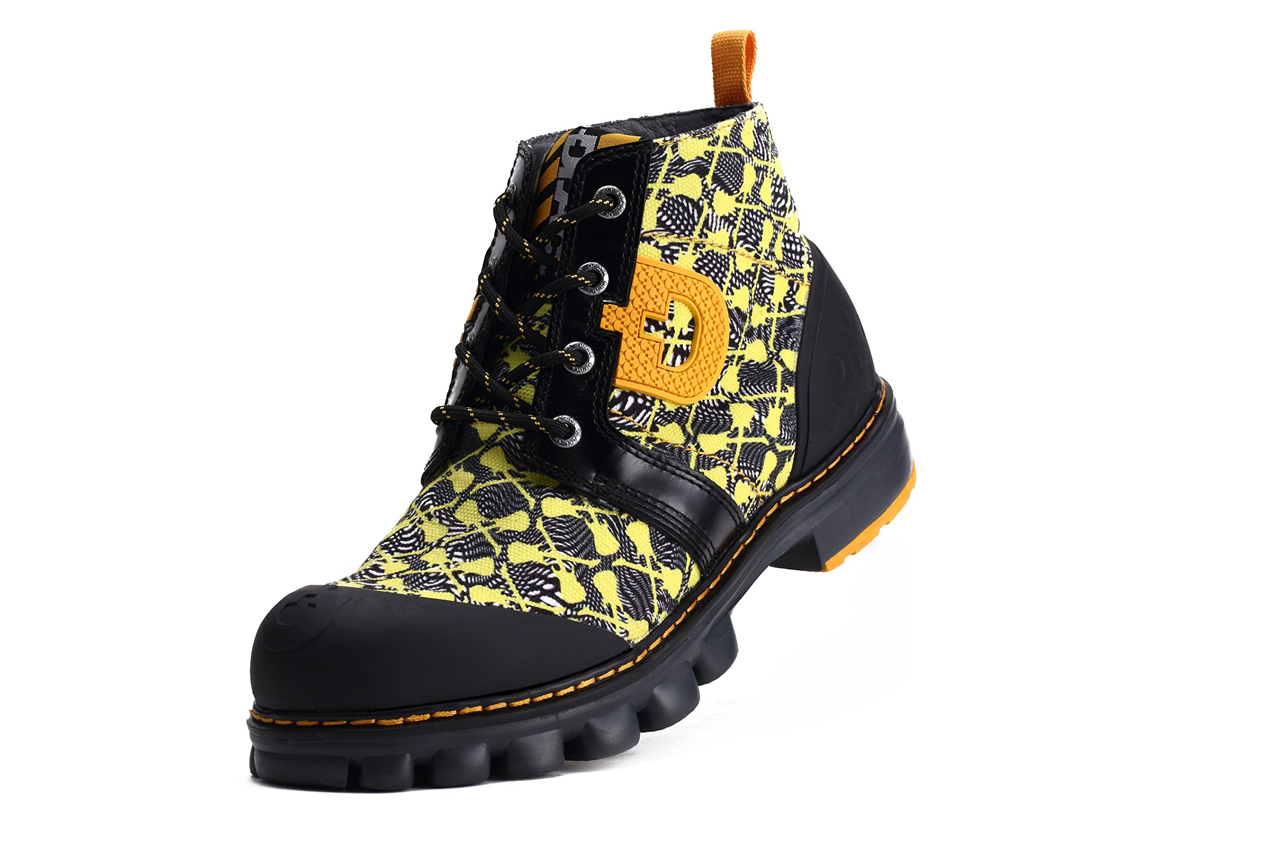 Dr.Act Men's Fantasy Travel Canvas Boots Yellow (10)