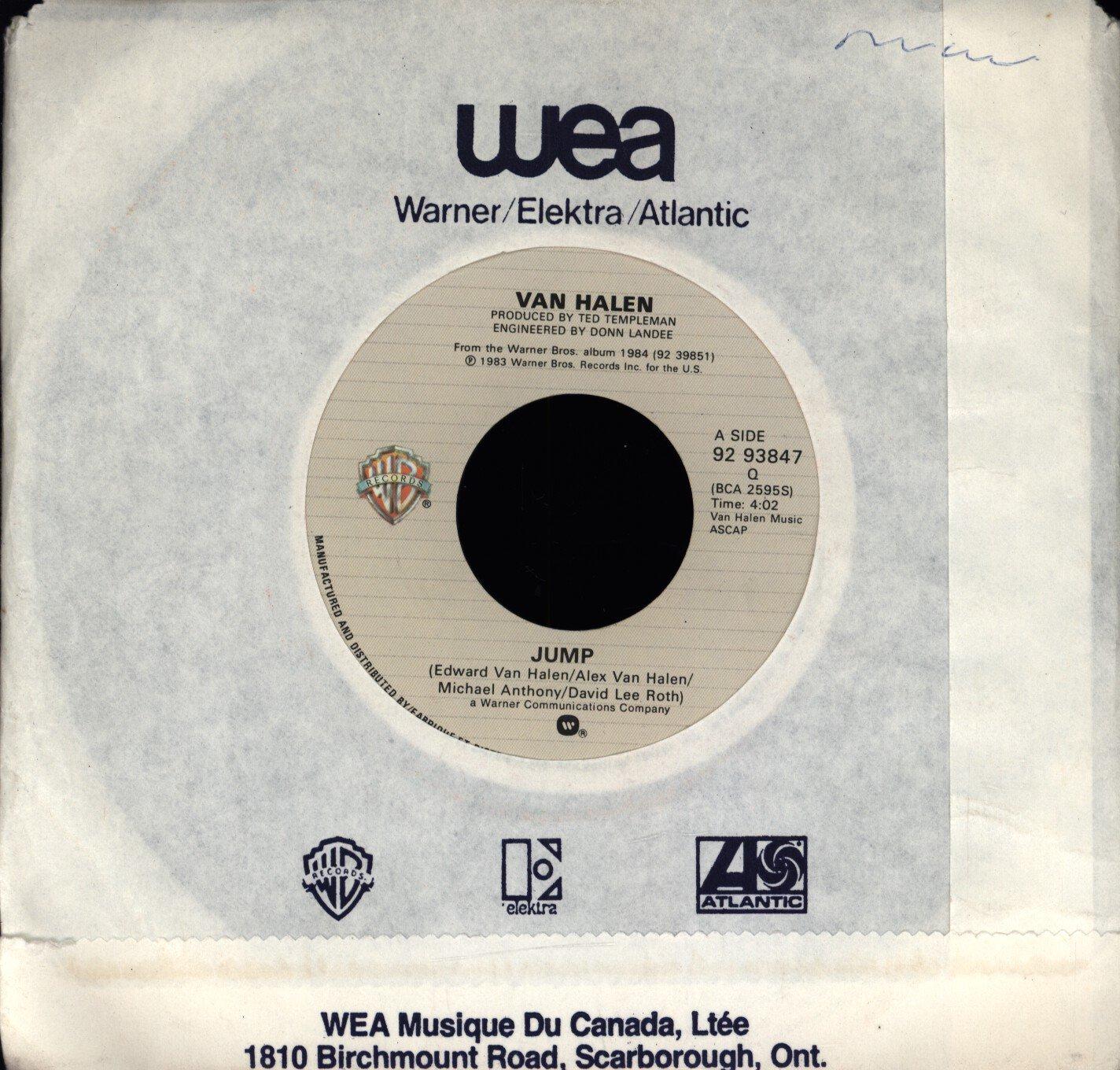 Amazon Com Van Halen Jump Warner Bros Records 92 9384 7 Music