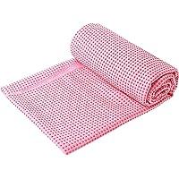 Fangehong Antislip Yoga Mat Handdoek voor Hot Yoga, Grote Microvezel Pilates Mat Cover met handgrepen, Bikram Yoga Mat…