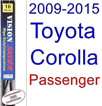 Amazon.com: 2009-2015 Toyota Corolla S Wiper Blade (Passenger) (Saver Automotive Products-Vision Saver) (2010,2011,2012,2013,2014): Automotive