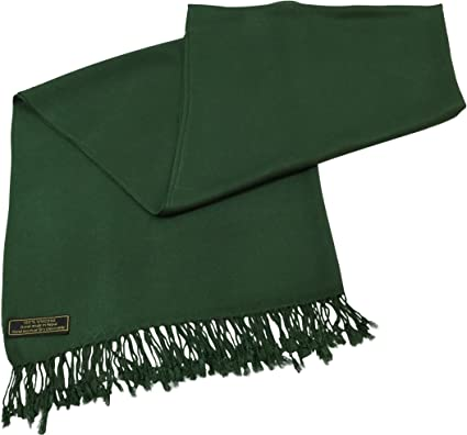 Factory Seconds Gold Solid Colour Design Shawl Pashmina Scarf Wrap