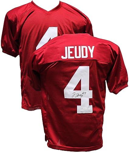 half off 8f7e4 ac625 Amazon.com: Authentic Jerry Jeudy Autographed Signed Custom ...