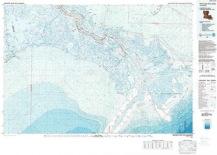 Mississippi And Louisiana Map.Amazon Com Louisiana Maps 1983 Mississippi Riverelta La Usgs