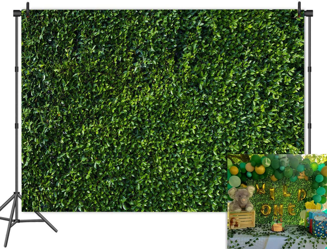Nature Leaves Backdrops Green Grass Photo Backgrounds Vinyl Party Photography 7x5ft