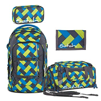 8c675283493cf Satch by Ergobag Pack of Chaka curbs School Backpack + Gym bag + Pencil  Case with