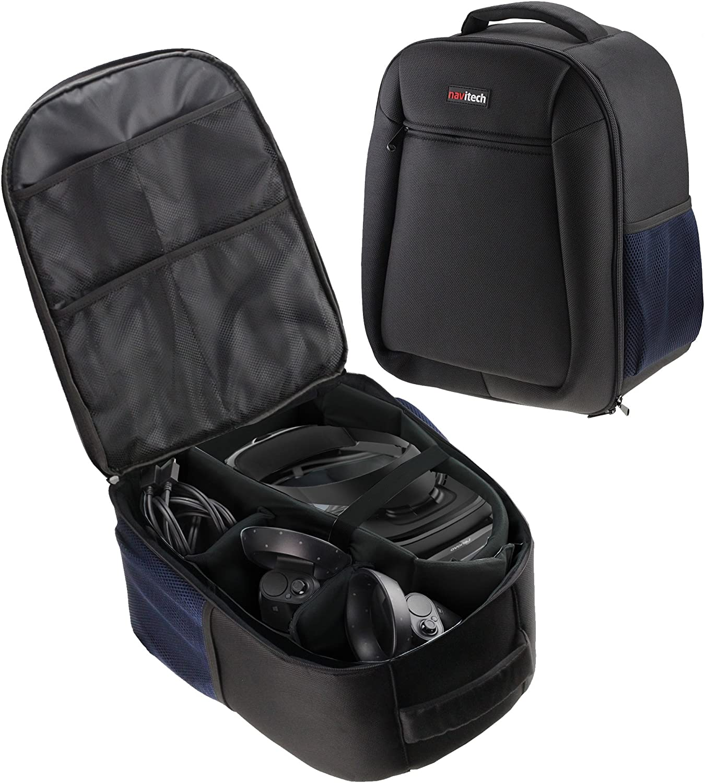 Navitech Rugged Black & Blue Backpack / Rucksack / Case / Cover For The Lenovo Explorer Mixed Reality Headset