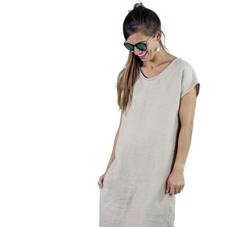 Oversized linen dress White Linen Dress Sleeveless linen dress Soft Linen Gauze drees Summer dress. Long Linen Dress