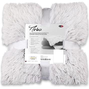 CelinaTex Minka Bettwäsche Set 135x200 warme kuschelig Flauschige Winter Garnitur Longhair Fleece Bettbezug Kissen Reißversch