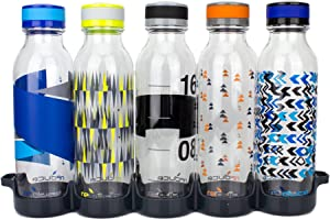Reduce WaterWeek Reusable Water Bottles, 20oz – Includes 5 Refillable Water Bottles Plus Bonus Fridge Tray For Your Water Bottle Set – BPA-Free, Leak Proof Twist Off Cap – Reduce Plastic Use