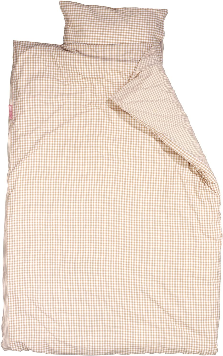 Beige Taftan Checks Small// Big Duvet Cover Set 100 x 135cm for Cot