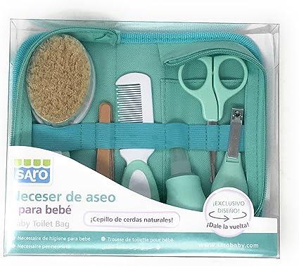 Neceser de aseo para bebe (6 piezas) Diseño nuevo- Danielstore (Azul): Amazon.es: Bebé