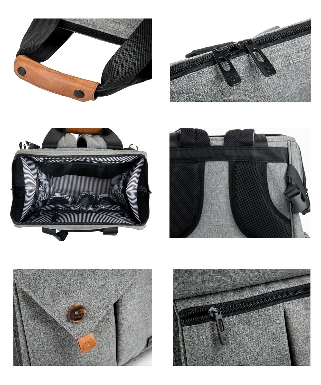 b2e4b27970fb HapTim Baby Diaper Bag Backpack W  Stroller Straps- Multi-function Designer  diaper