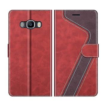 MOBESV Funda para Samsung Galaxy J7 2016, Funda Libro Samsung J7 2016, Funda Móvil Samsung Galaxy J7 2016 Magnético Carcasa para Samsung Galaxy J7 ...