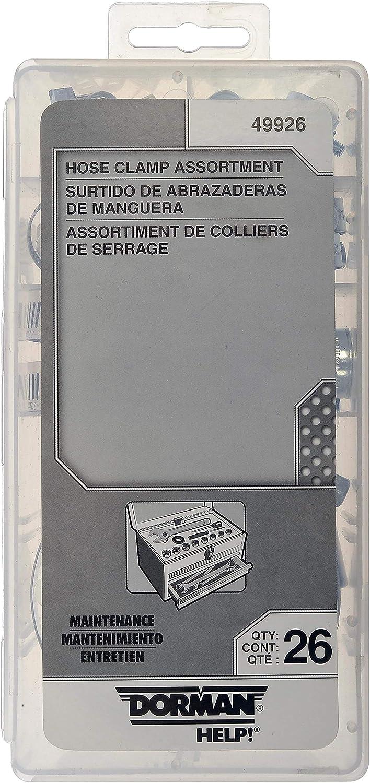 Dorman 49926 Hose Clamp Assortment Polished Clear Zinc