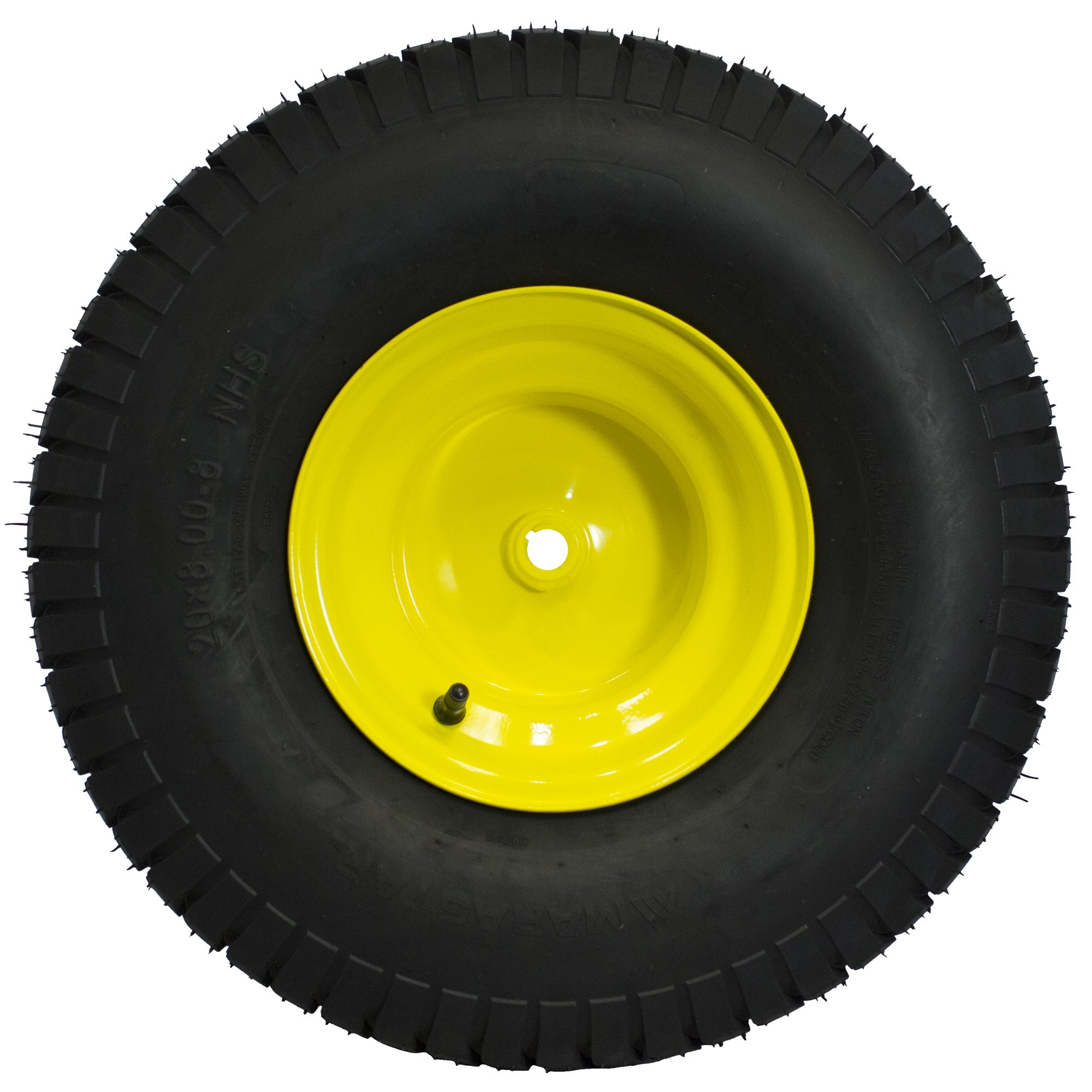 MARASTAR 21424 20X8.00-8 Rear Tire Assembly Replacement for John Deere Riding Mowers, Yellow by MARASTAR (Image #4)