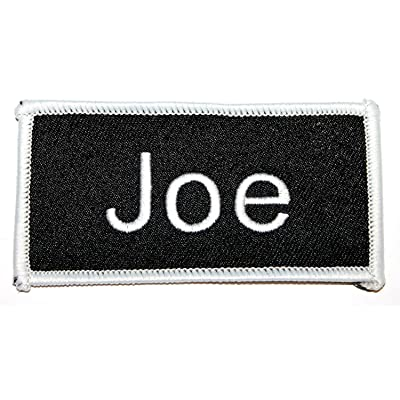 Joe Name Tag Patch Uniform ID Work Shirt Badge Embroidered Iron On Applique free shipping