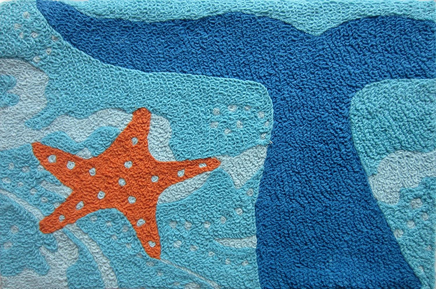 Amazon.com: Whale Of A Tail And Starfish Acrylic Accent Area Rug 21 X 33  Jellybean: Home U0026 Kitchen