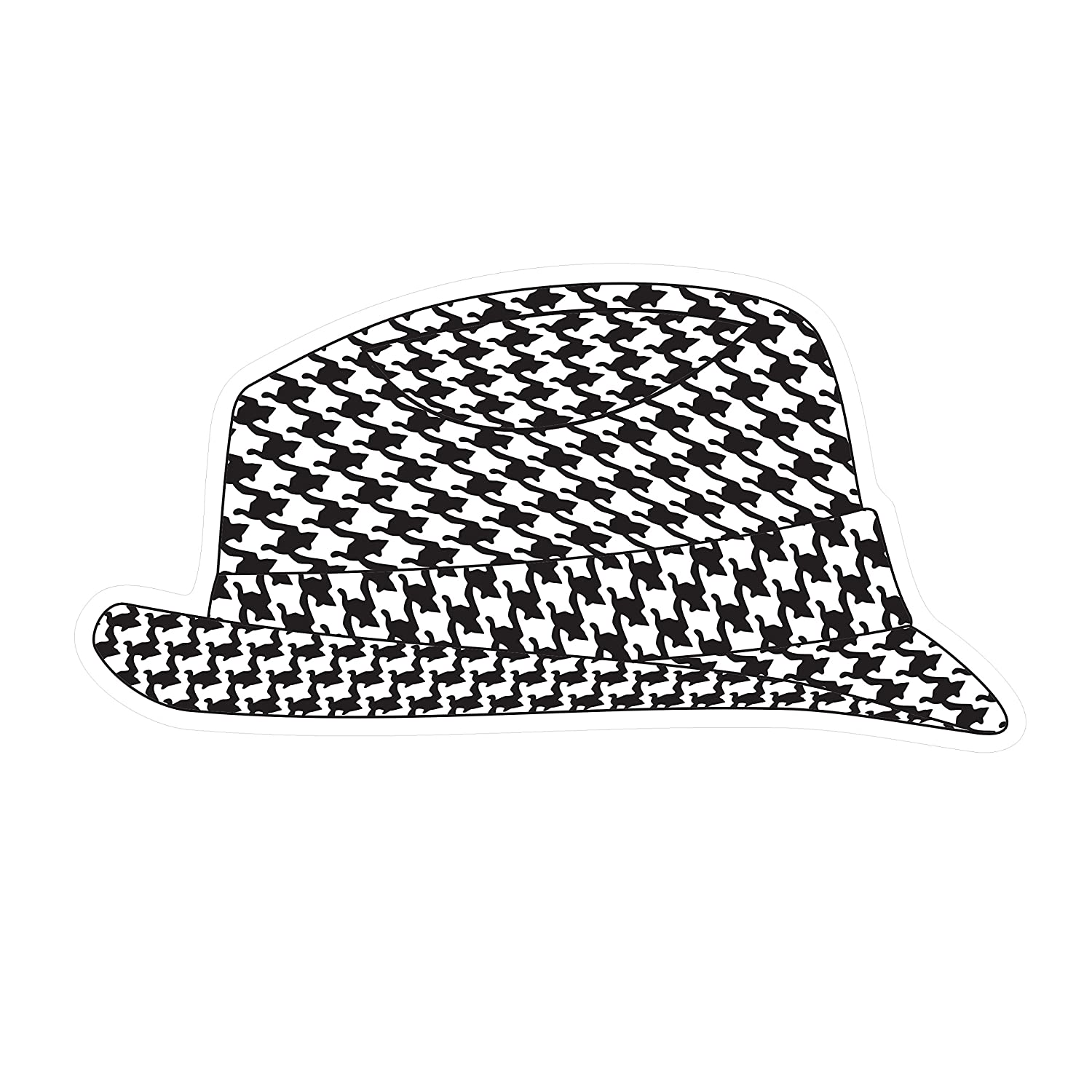 Alabama Crimson Tide Magnet HOUNDSTOOTH HAT MAGNET 12