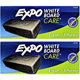 EXPO Dry Erase Board Eraser, Soft Pile, 5 1/8 Width x 1 1/4 Height (81505),Pack of 2