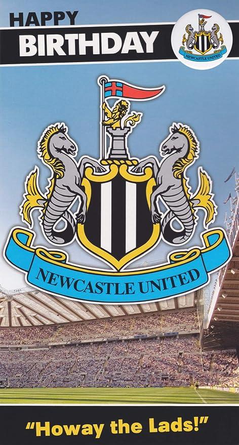 Birthday Card with Badge Newcastle United F.C