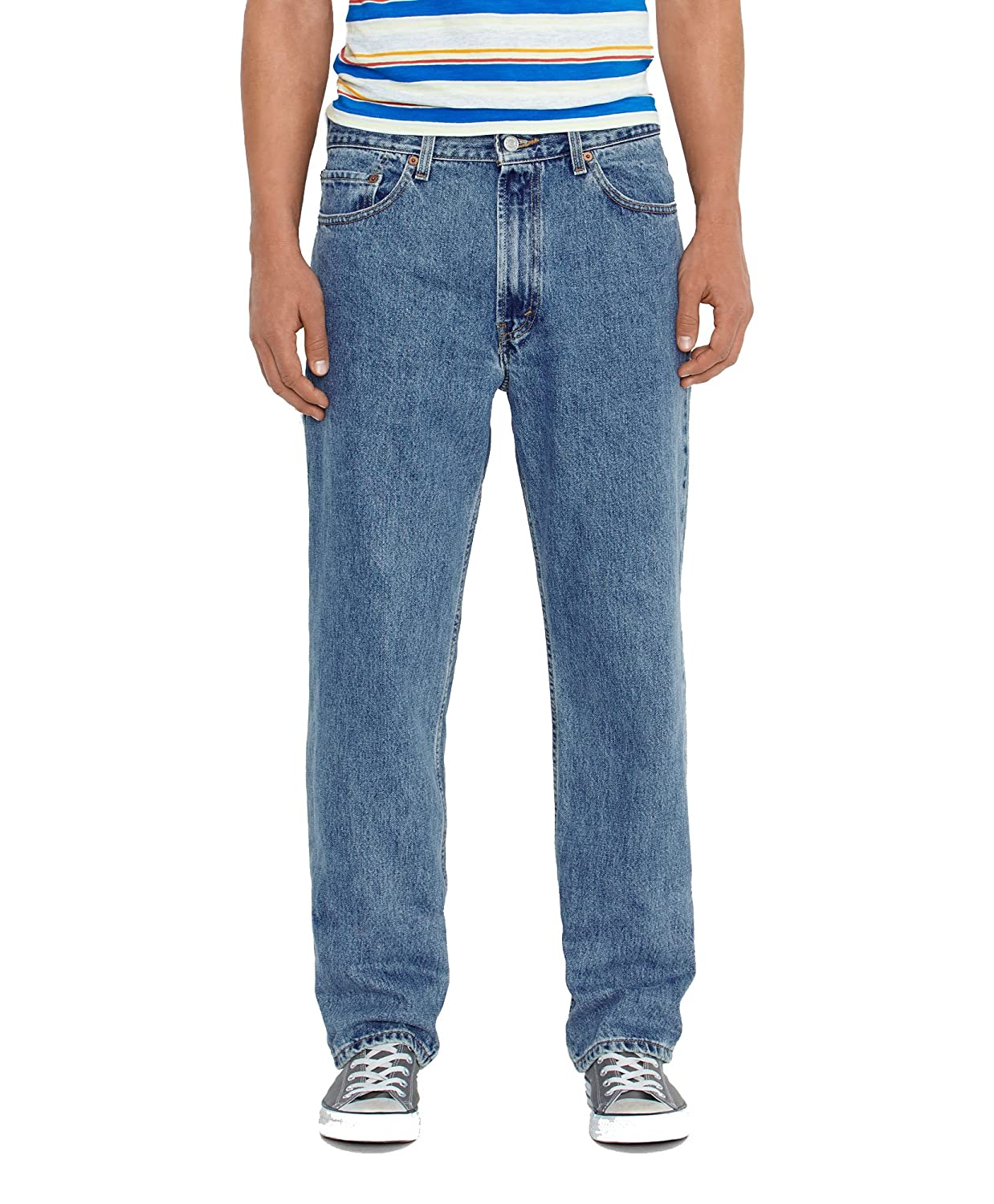 65845cdf8d2 Levi s  Mens Men s 550¿ Relaxed Fit Medium Stonewash Jeans at Amazon Men s  Clothing store